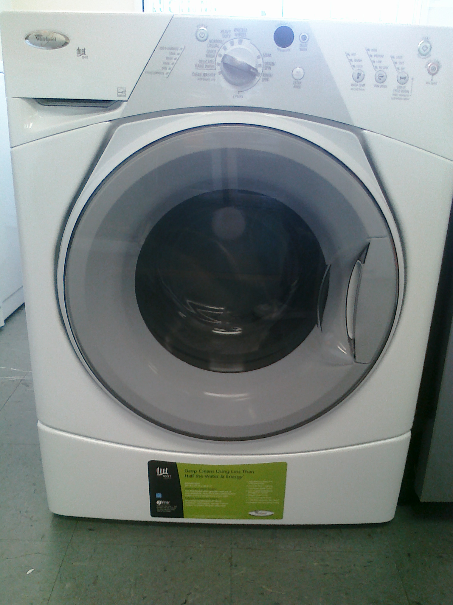 (9) Whirlpool WFW8410SW Duet Sport Front-Load Washer, White