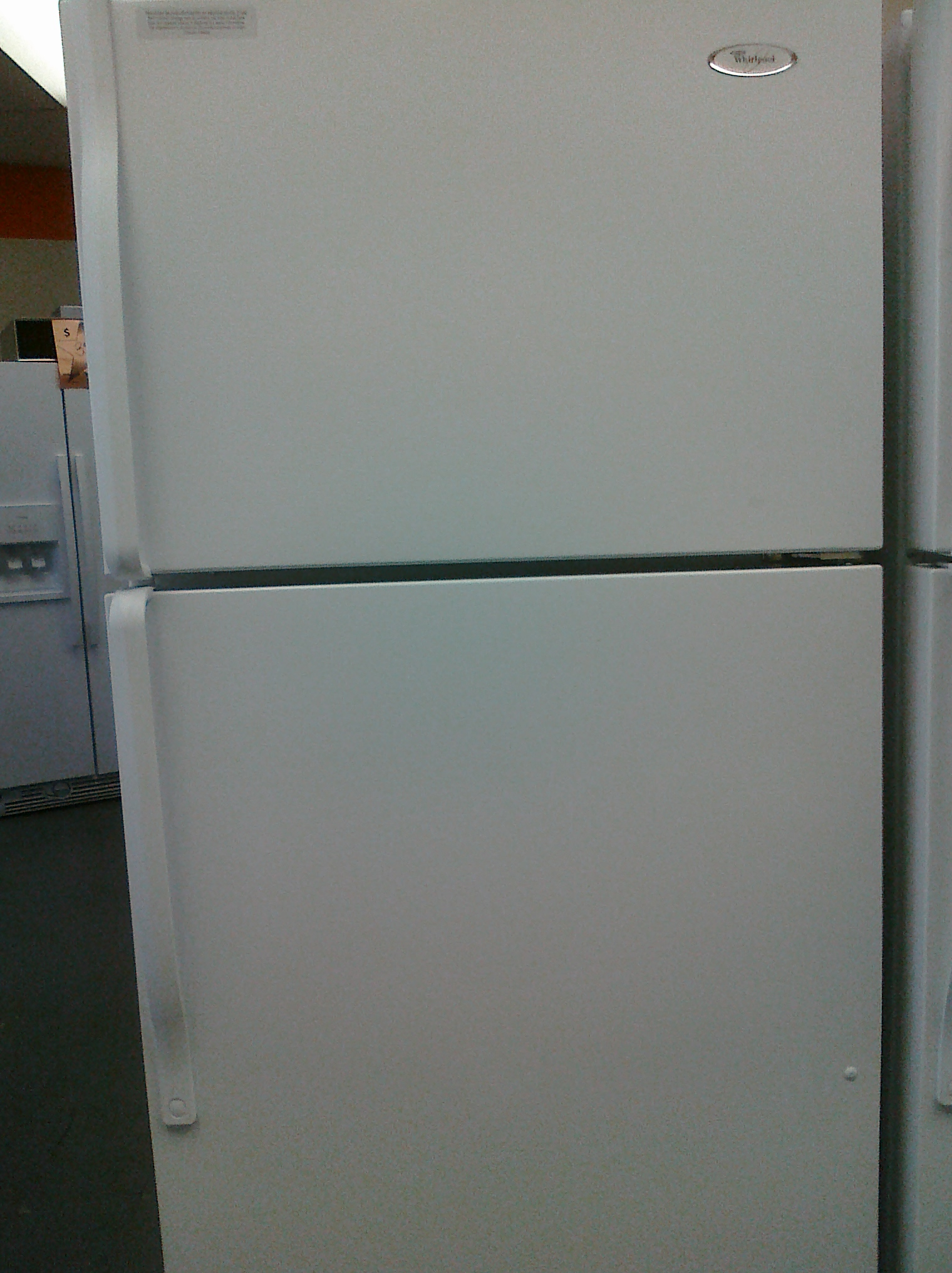 (9) Whirlpool W8TXNGMWQ 18 Cubic Foot Top-Mount Refrigerator with Ice Maker, White