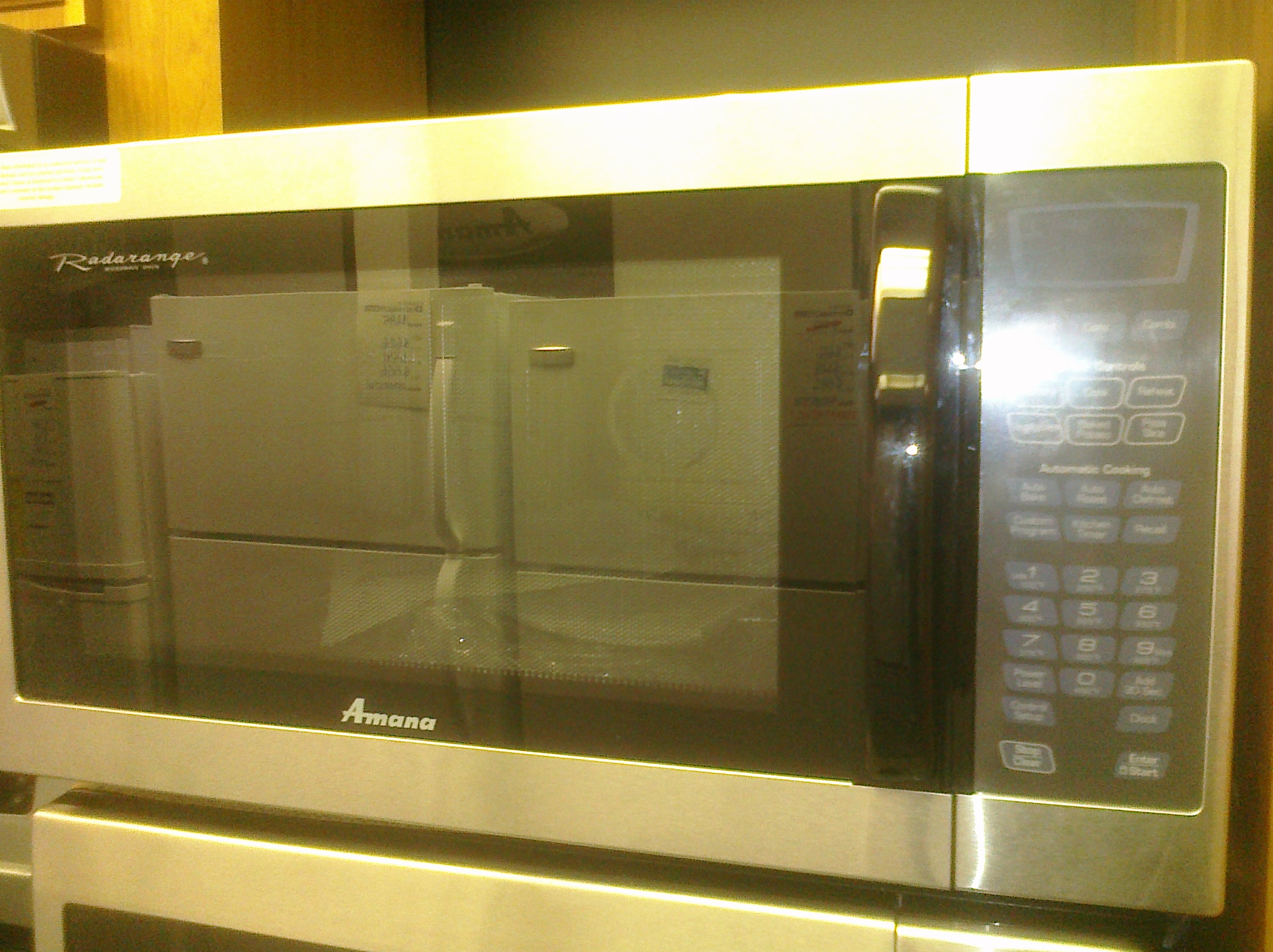 (9) Amana AMC6158BAS 1.5CuFt Countertop Convection Microwave Oven, Stainless Steel