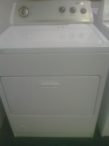 (9) Whirlpool WGD5300VW Gas Dryer, White