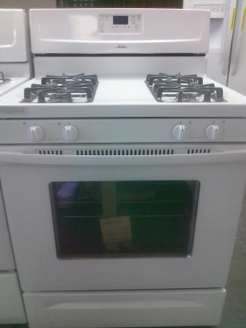 (9) Whirlpool WFG361LVQ 30″ Free-Standing Self-Clean Gas Range, White