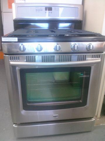 (9) Maytag MGR8772WS 30″ 5-Burner Free-Standing Self-Clean Gas Range w/ Convection, Stainless Steel