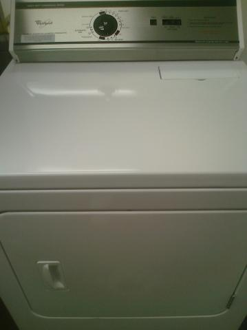 (9) GCEM2990TQ Whirlpool Heavy Duty Electric Commercial Dryer w/o Coin Slot, White