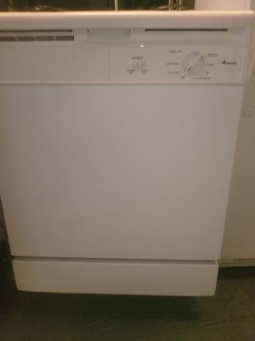(9) Amana ADB1000AWW 24″ Built-In Dishwasher, White