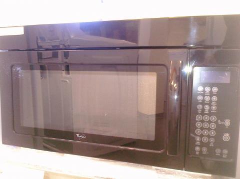 (9) Whirlpool WMH1163XVB 1.6 CuFt, 1000 Watt OTR Microwave, Black