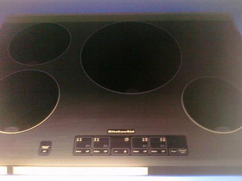 U(9) KitchenAid KICU508SBL 30″ Smooth-Top, 4-Burner Electric Induction Cooktop, Black