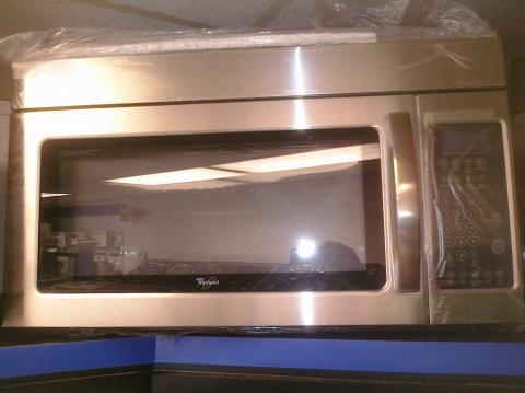 (9) Whirlpool WMH2175XVS 30″ OTR Microwave, Stainless Steel