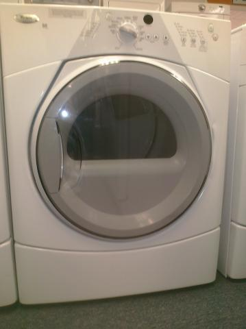 (9) Whirlpool WGD8410SW Duet Sport Gas Dryer, White
