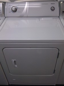 (9) Admiral AGD4475TQ Heavy Duty Super Capacity 5-Cycle 3-Temperature Gas Dryer, White