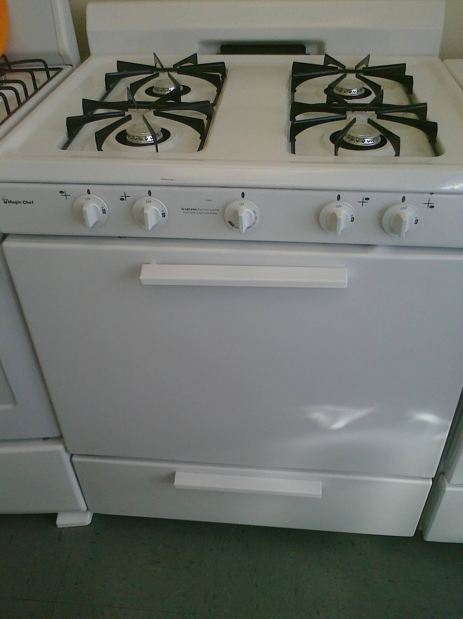 4 Magic Chef Cpr1100adw 30 Gas Stove White Feder S