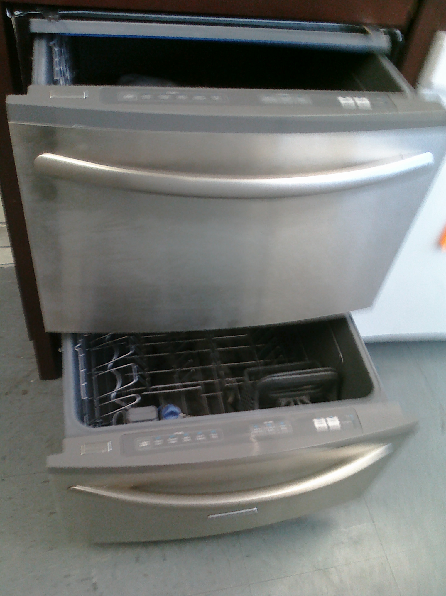 9 Kitchen Aid Kudh03dtss Double Dishwasher Drawers