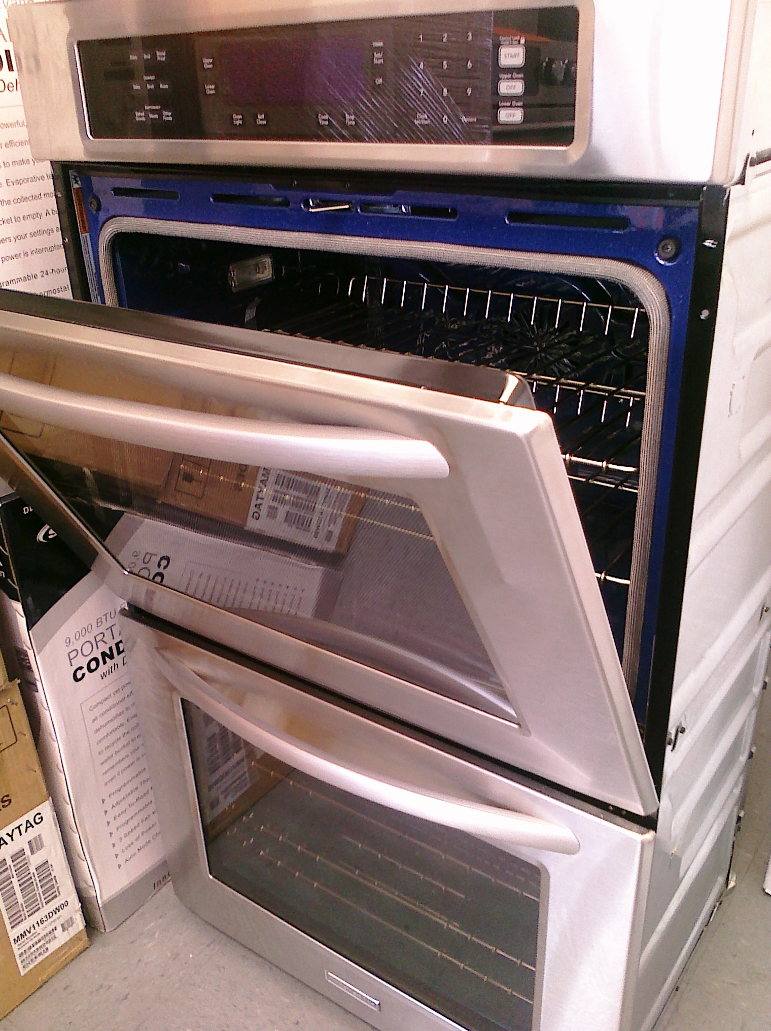 6 kitchen aid kebs208sss 30 double oven convection