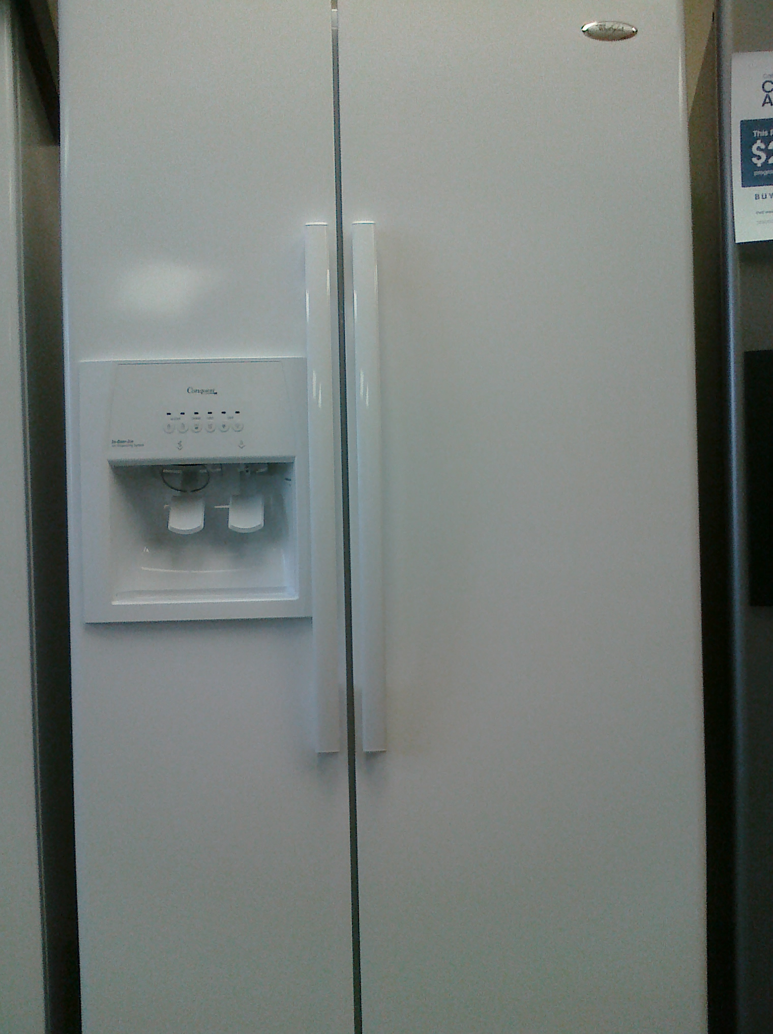 whirlpool side by side refrigerator white. whirlpool ed5lvaxwq side by refrigerator white