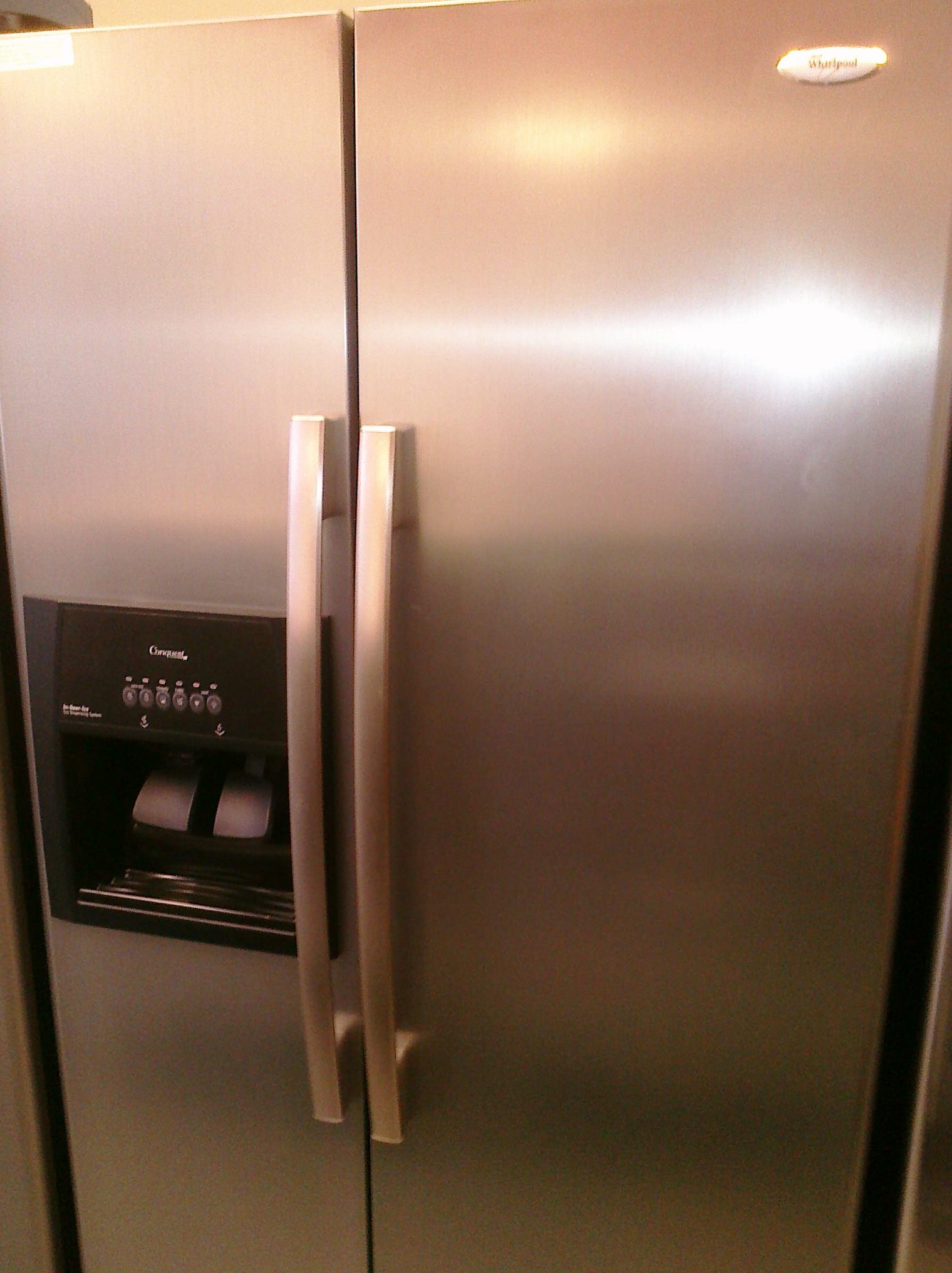 9 Whirlpool Ed5ltaxvl 25 Cubic Foot Flat Door Side By