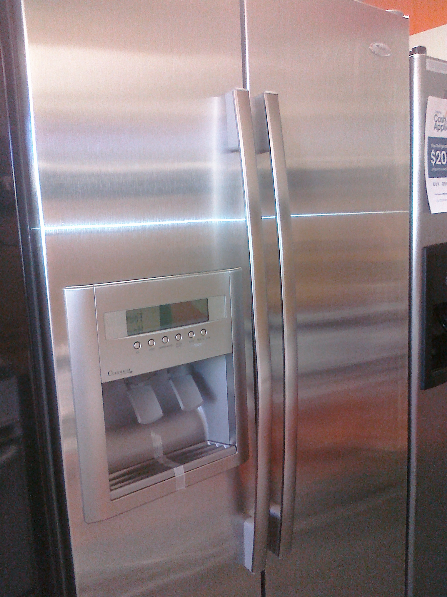 9 Whirlpool Gd5rvaxvy 25 Cubic Foot Side By Side
