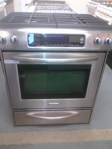 Kitchenaid Kdss907sss 9) kitchen aid kdss907sss 30″ slide-in dual fuel range w
