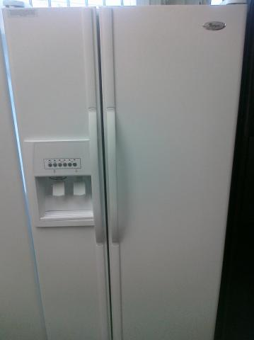 whirlpool side by side refrigerator white. whirlpool ed2vhexvq side by refrigerator white 2