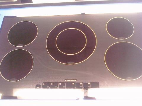 9 kitchenaid kicu568sbl 36 glass top induction 5 burner electric cooktop black feder 39 s outlet - Kitchenaid induction cooktop problems ...