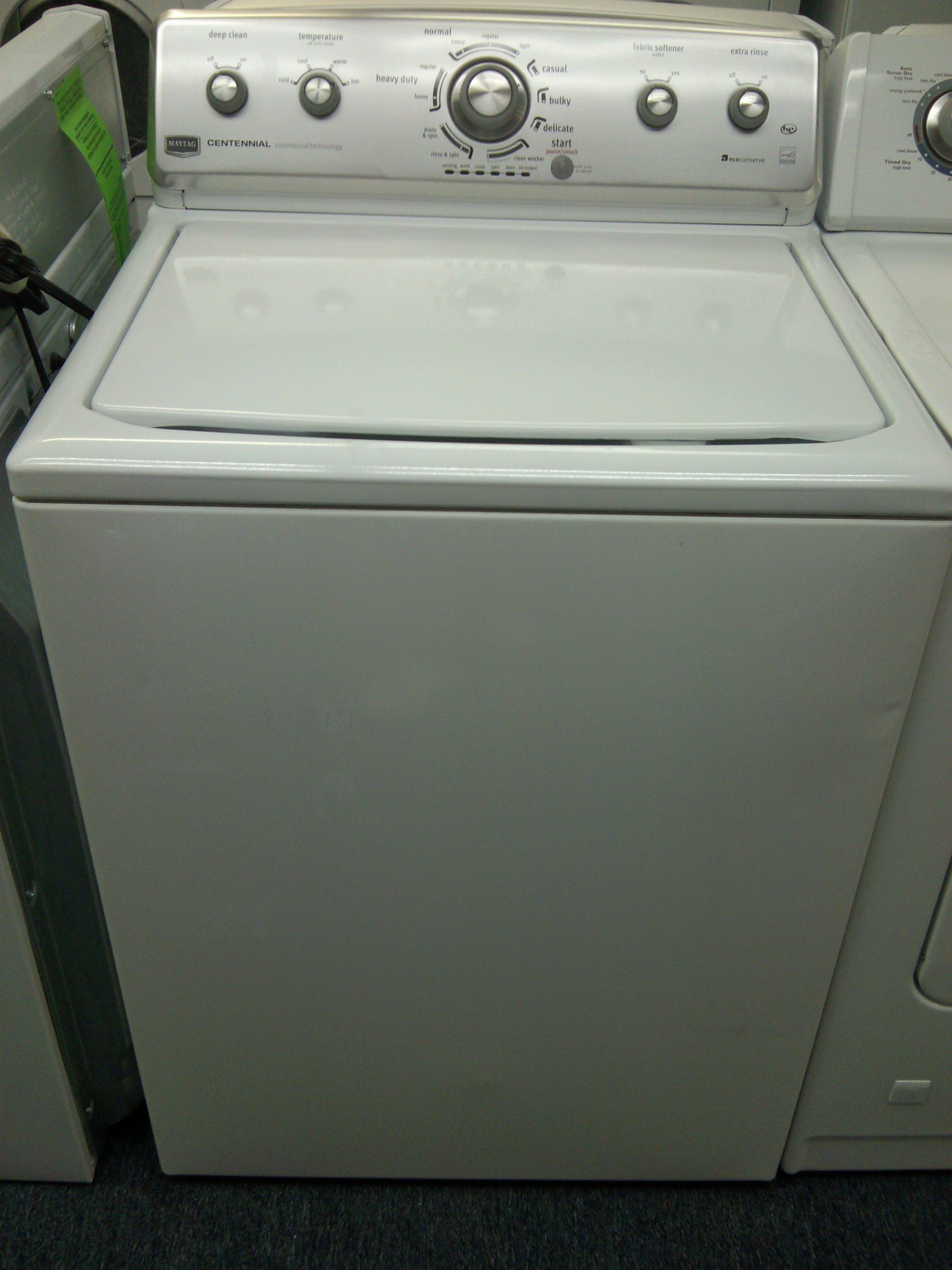 maytag centennial commercial technology washing machine