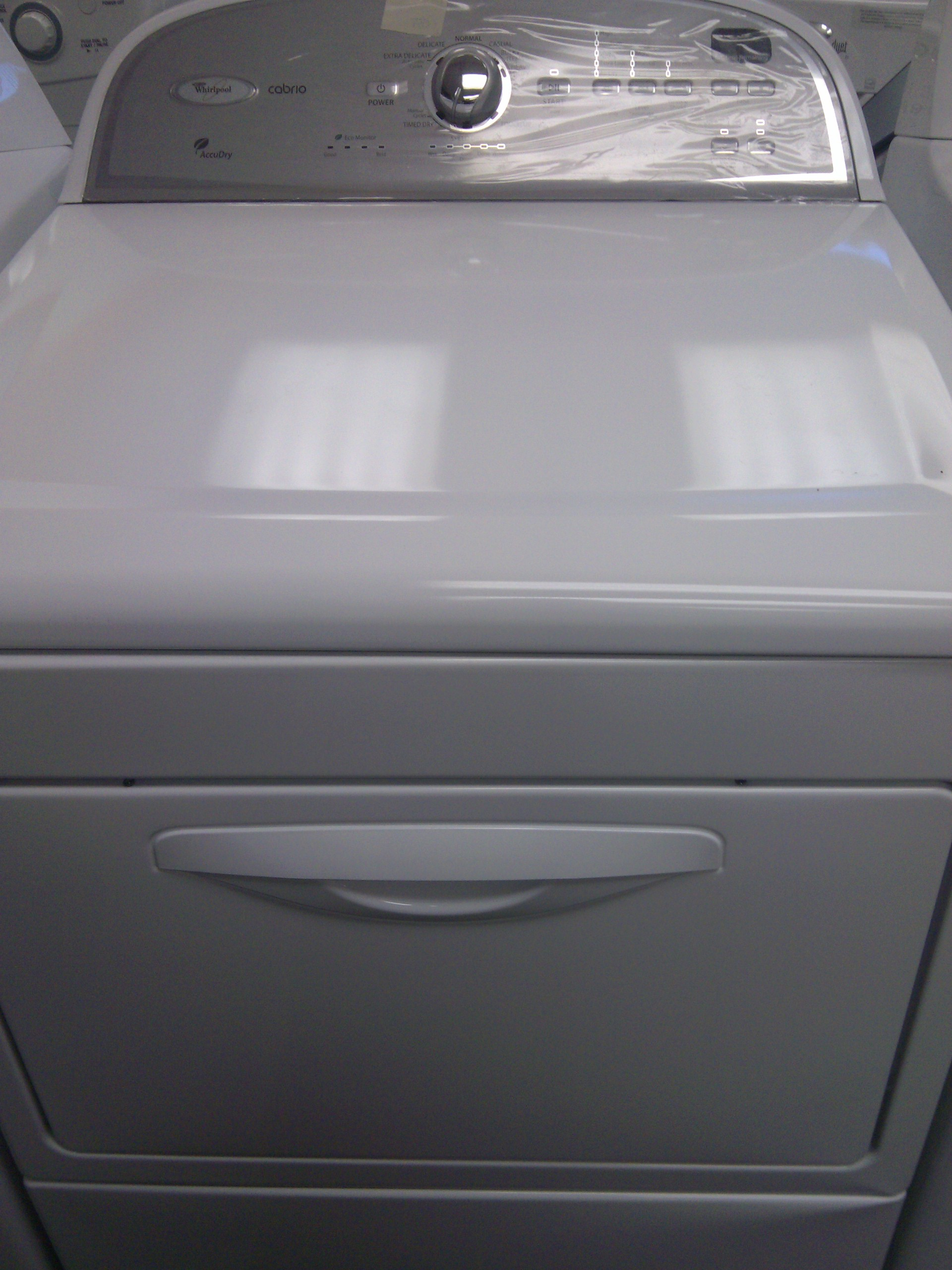 9 Whirlpool Cabrio Wgd5610xw Front Load Gas Dryer White